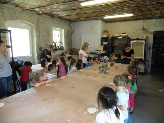 visite de l'atelier de poterie