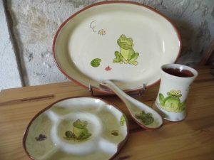 Collection de poterie thème Grenouille