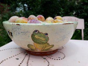 égouttoir légumes céramique grenouille