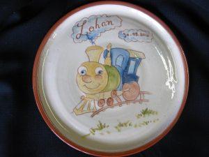 Assiette personnalisée train Lohan