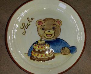 Assiette personnalisée pour un anniversaire d'enfant avec prénom