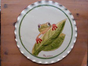 plat diviseur décors grenouille