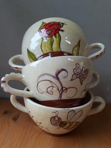 bols a deux anses personnalises decors animaux