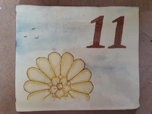 numero de maison personnalise fleur