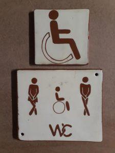 plaque wc handicape
