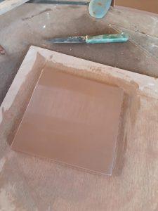 premiere etape fabrication plaque de maison personalisee