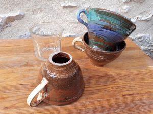 entonnoirs à confiture en céramique marbrée