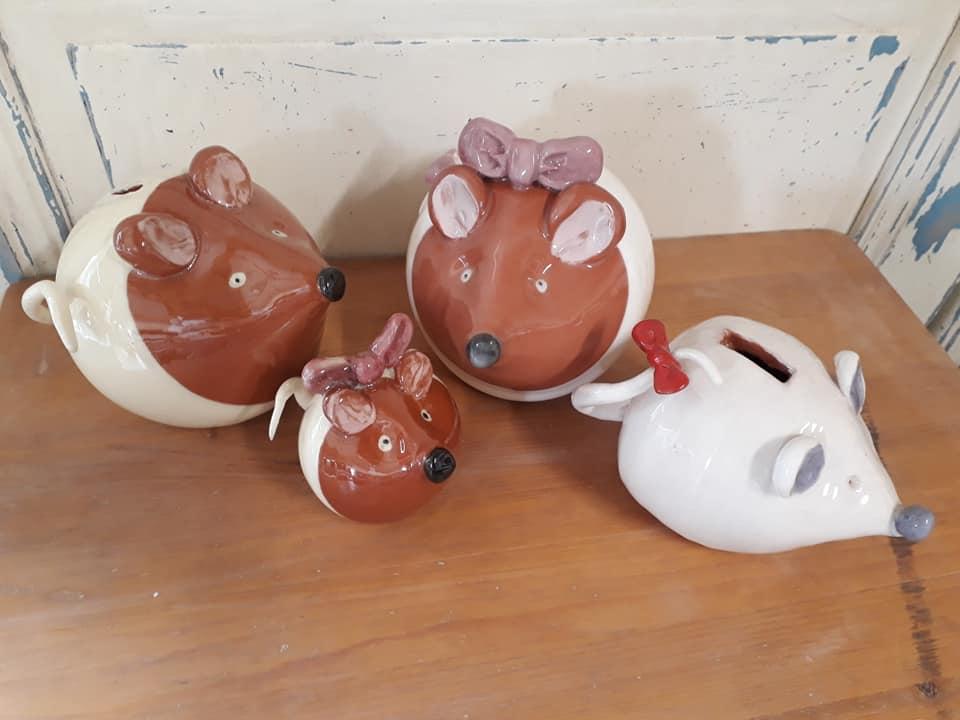 tirelires souris personnalisées originales en céramique