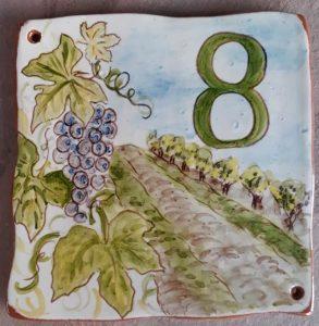 plaque numéro de maison personnalisée vignes