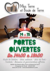 affiche portes ouvertes poterie 14 et 15 décembre