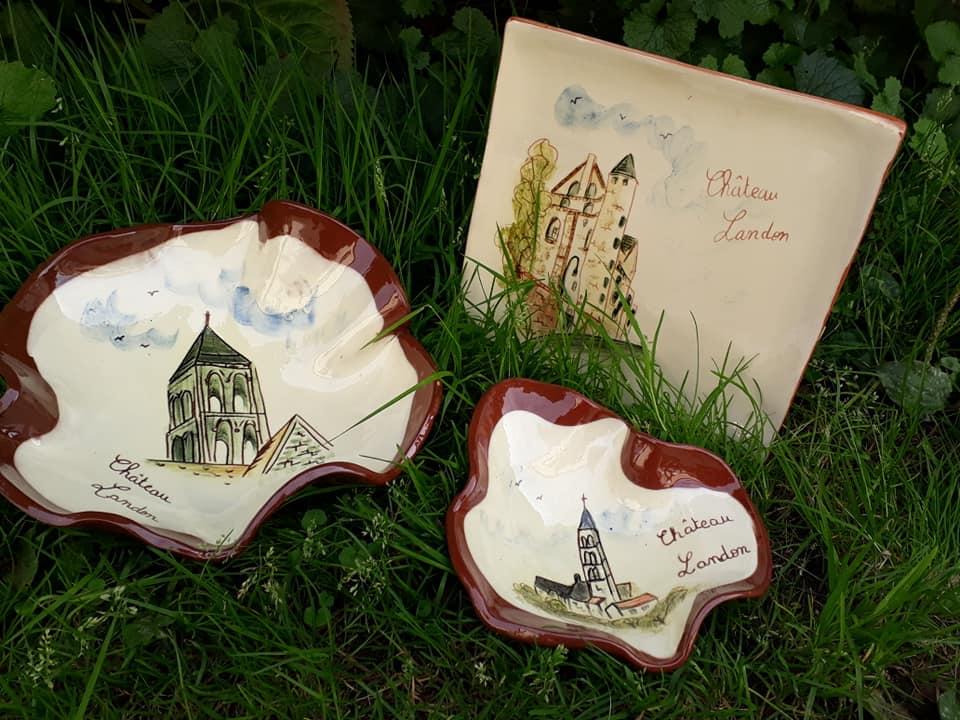 poteries personnalisees theme chateau landon assiette coupes 1