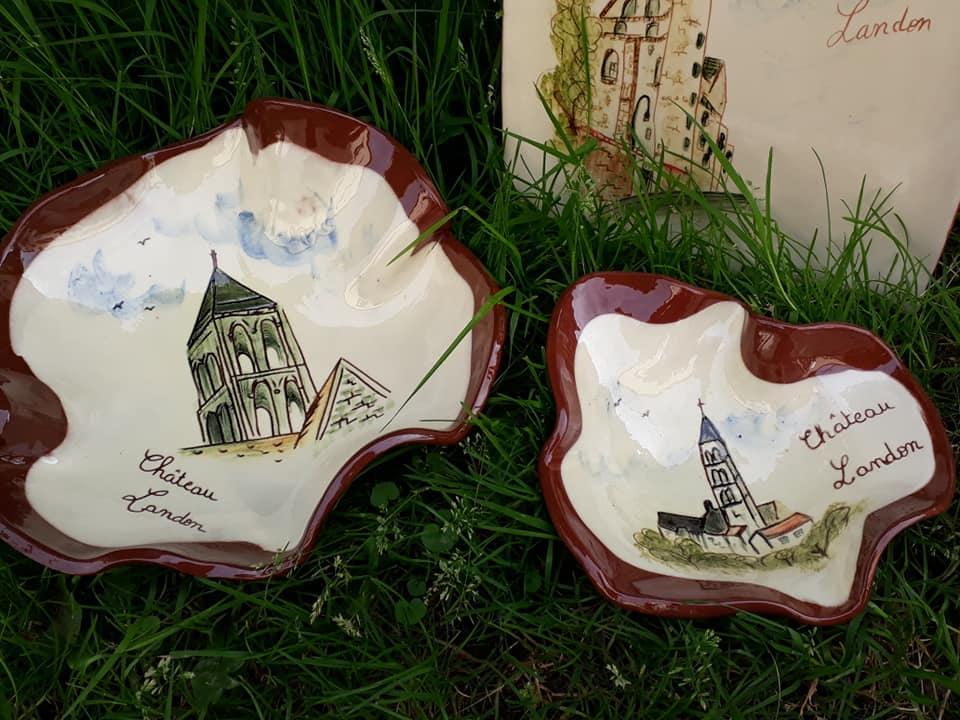 poteries personnalisees theme chateau landon assiette coupes 2