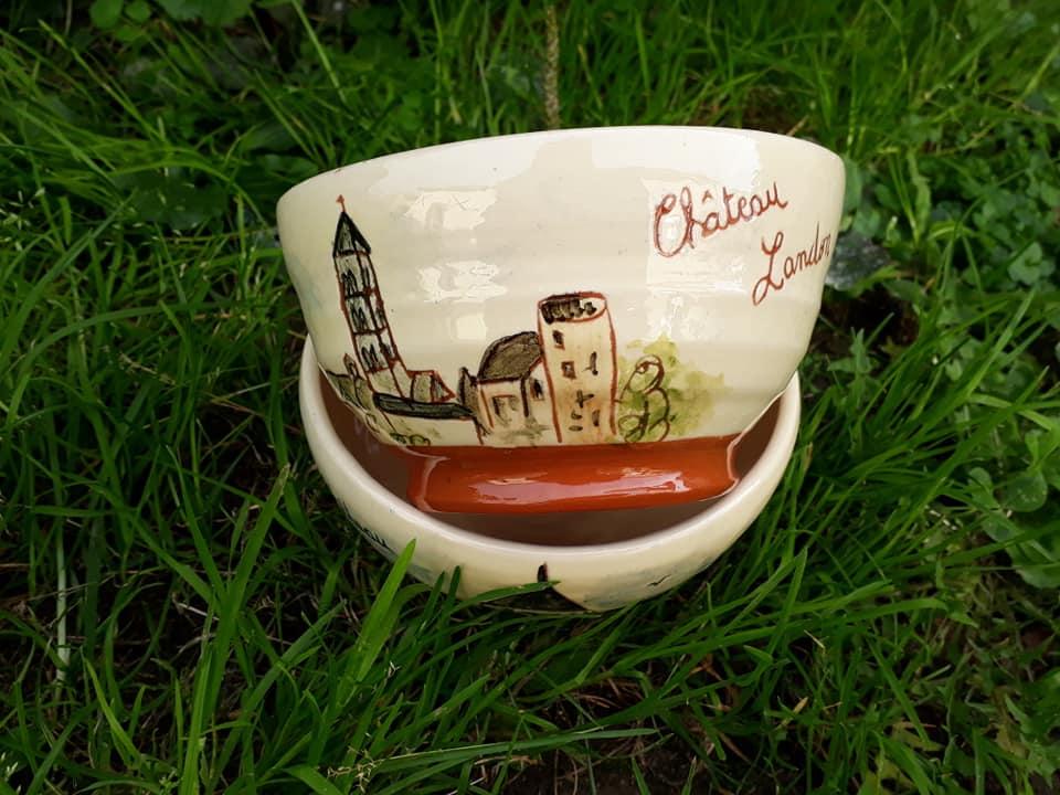 poteries personnalisées thème château landon bol 1