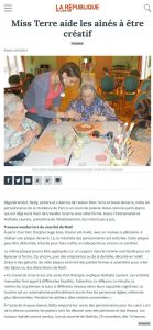 la république du centre 20/10/2014 - Miss Terre aide les aines a être créatifs