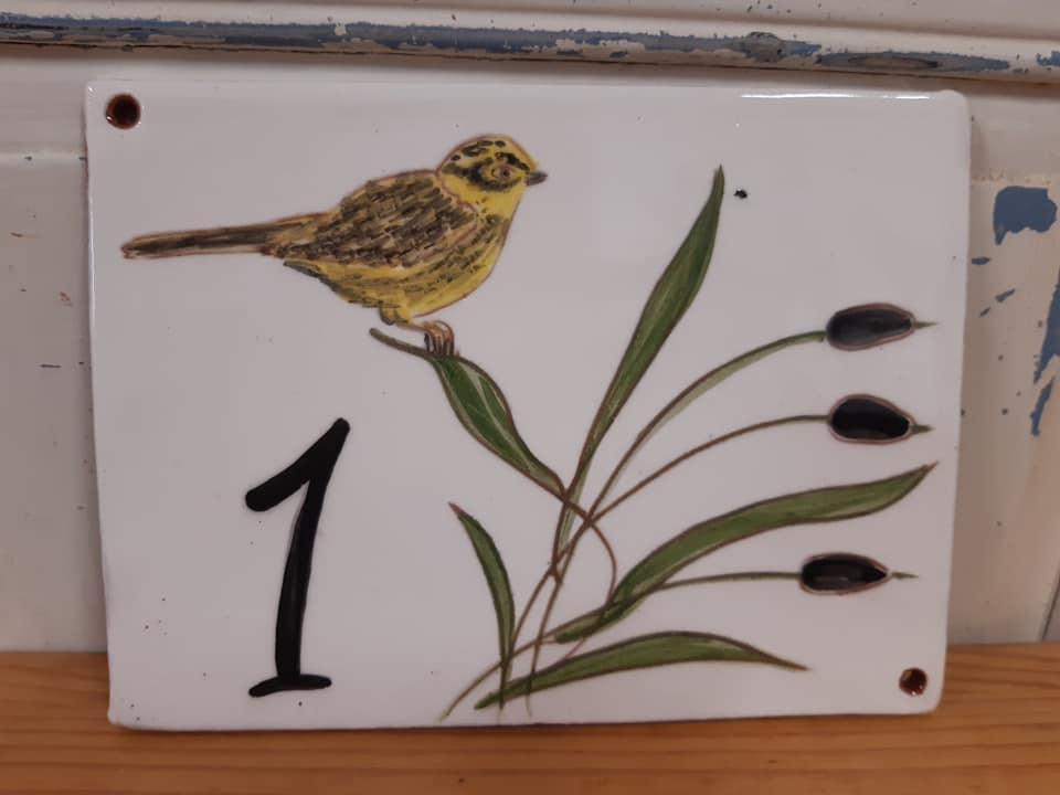 plaque de maison personnalisée oiseau