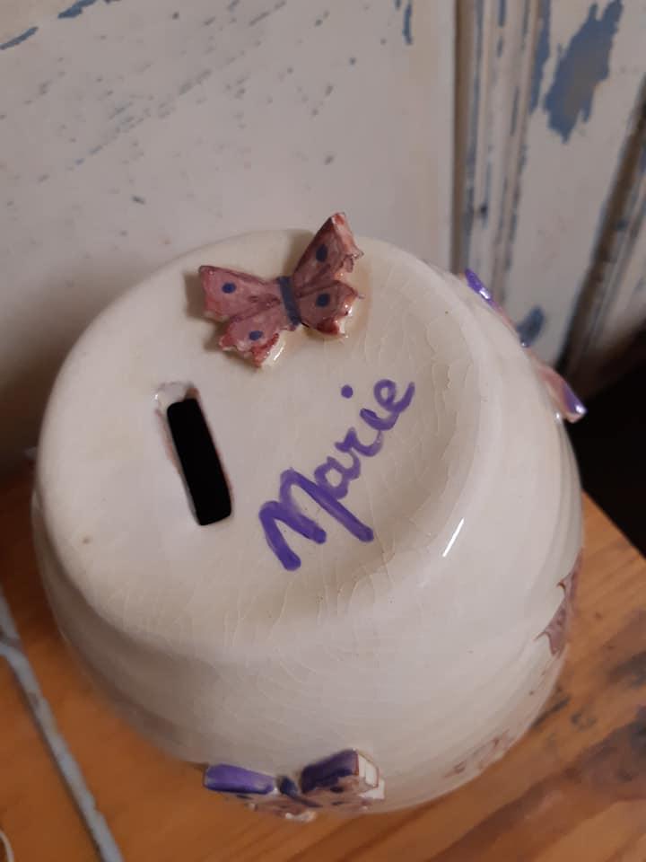 tirelire personnalisée en céramique poterie