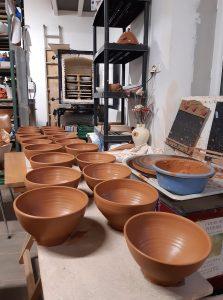 série de bols poterie