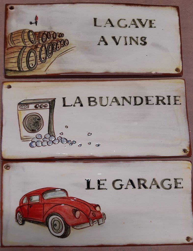 plaques de porte cave a vins buanderie garage