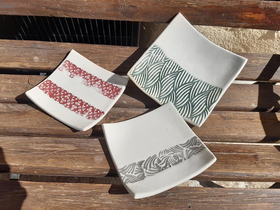 coupelles ceramique terre cuite carre 4