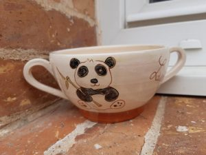 bol à 2 anses décor panda