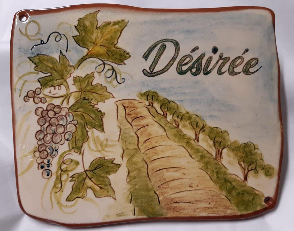 plaque maison vigne