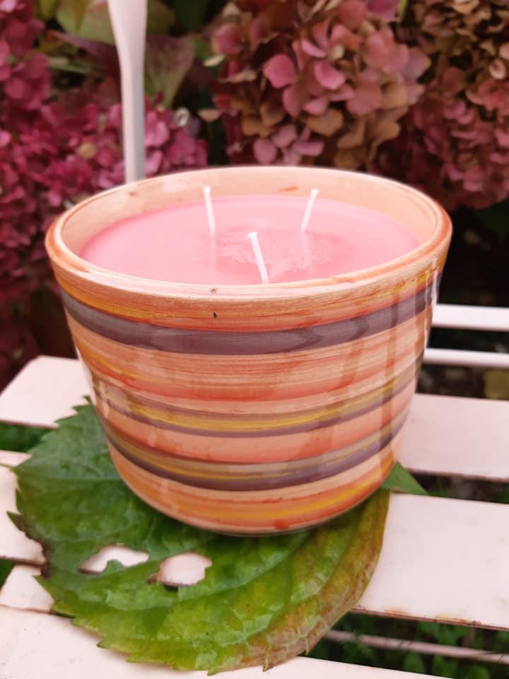 bougies colorees artisanales poterie ceramique 6