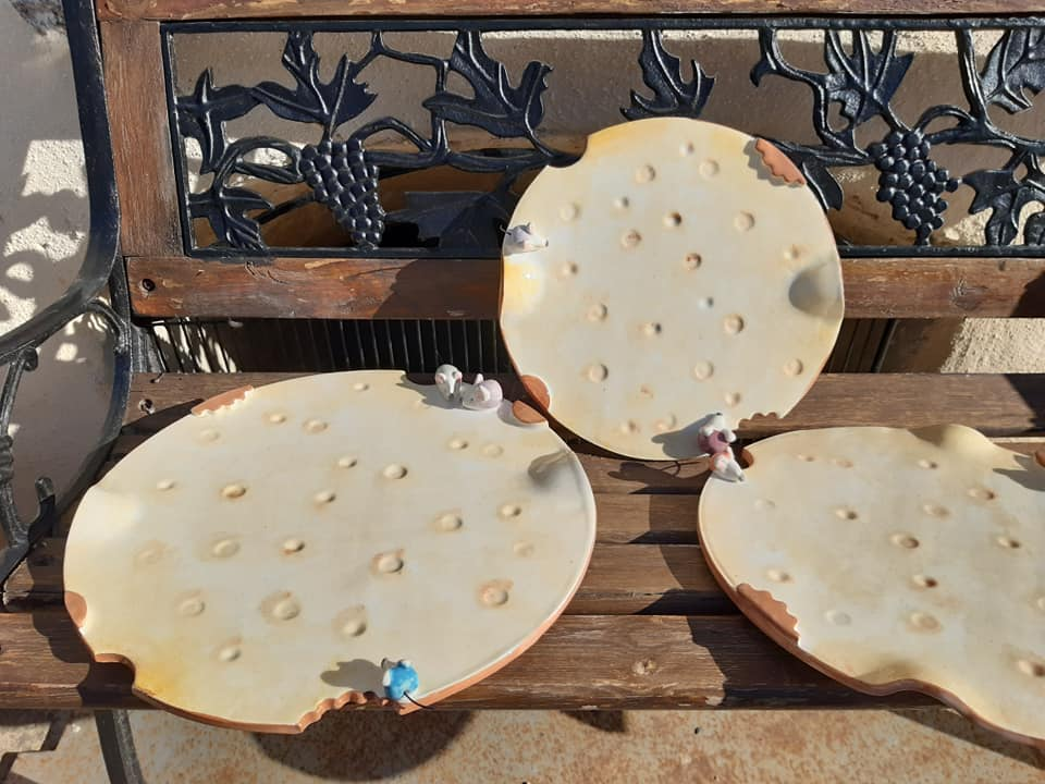 cadeau noël plateau à fromages original unique poterie