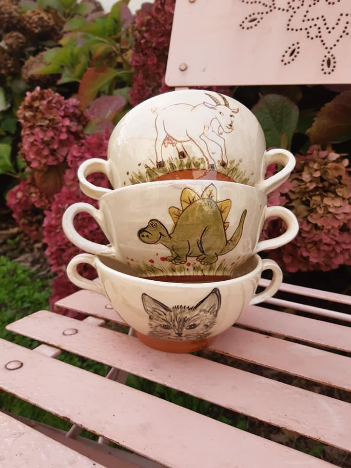 bols en ceramique avec une ou deux anses 2 2