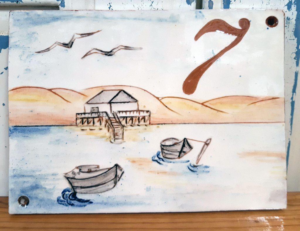 plaque numéro personnalisée bateau mer dune