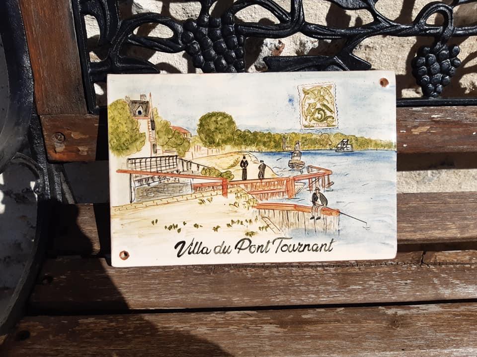 plaque ceramique personnalisee d apres une carte postale ancienne 4 1