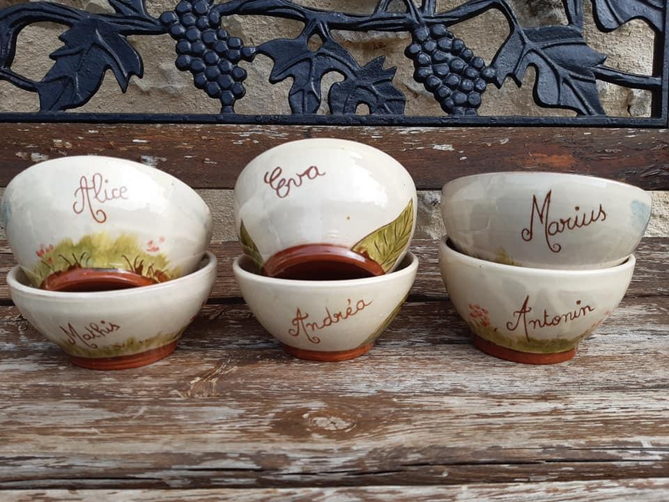 bols en céramique décors animaux avec prénoms