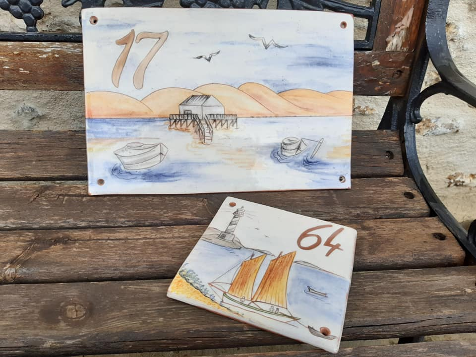 plaques de rue numeros theme mer dune 1
