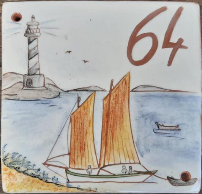 plaques de rue numéros numérotée phare mer bateau Sinagot