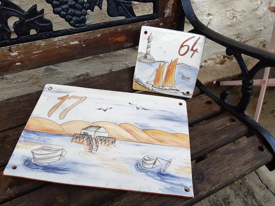 plaques de rue numeros theme mer dune 4